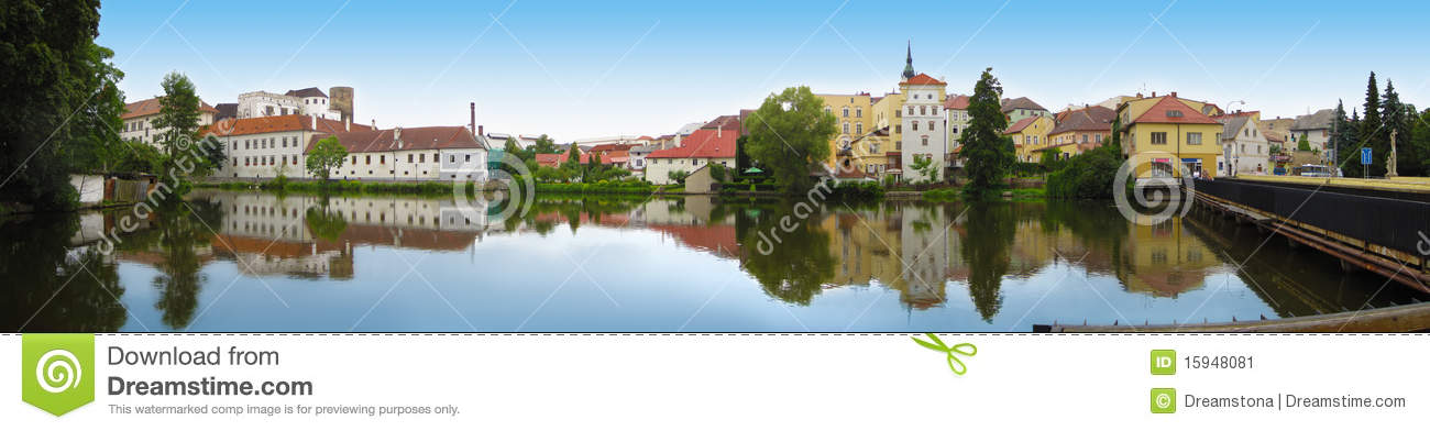 View of the river in Jindrichuv Hradec