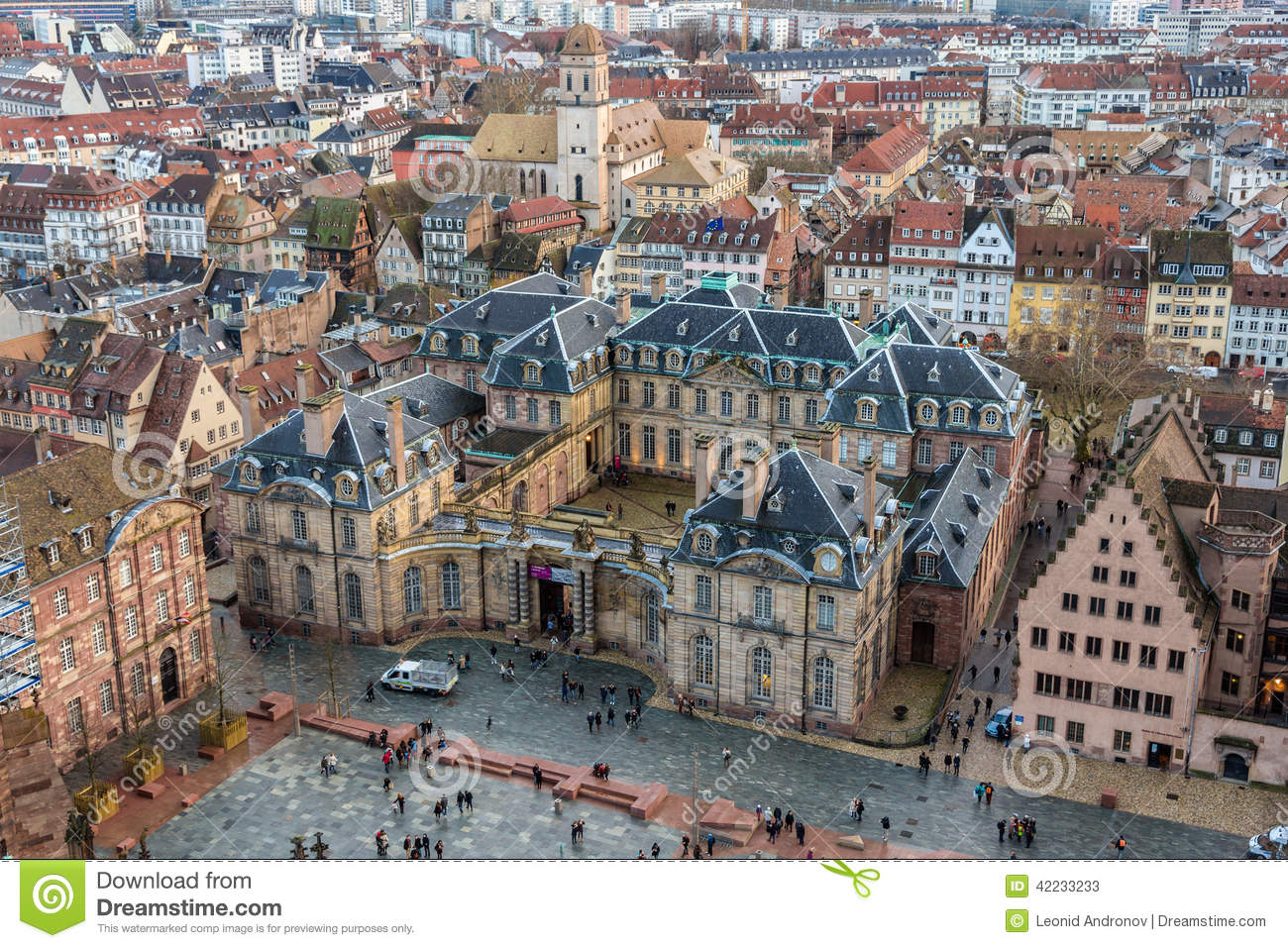 View of rohan palace in strasbourg alsace france stock for Alsace carrelage strasbourg