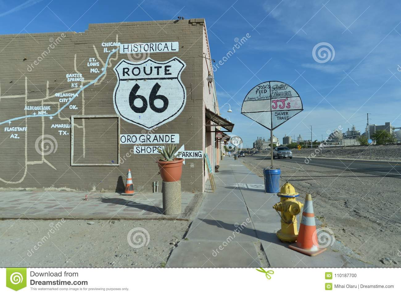 Roadmap Of The Us%0A Road Route Map Usa Oro Grande California USA April View of the Route map on  buildings