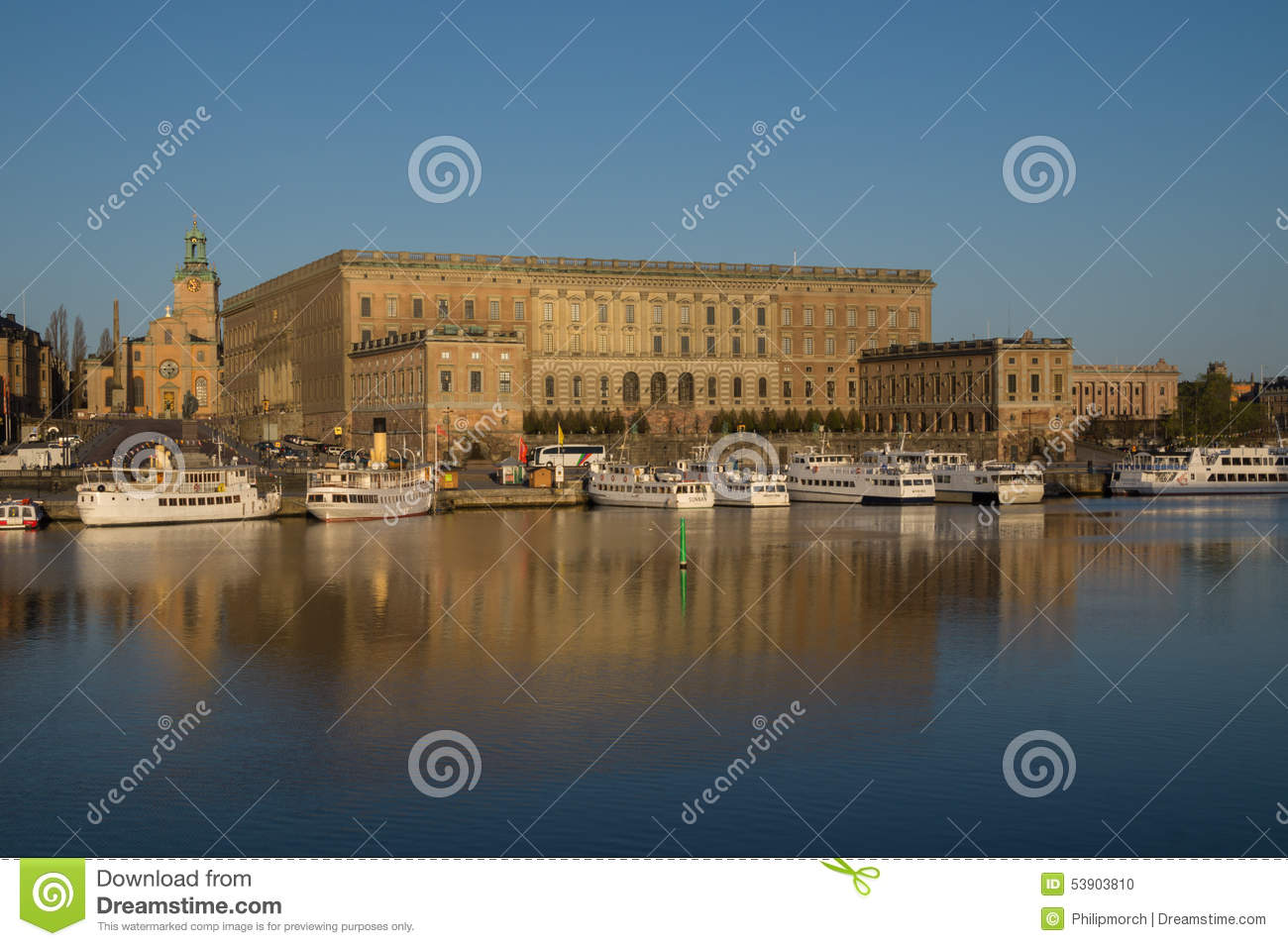 View Of Royal Stockholm Palace Sweden With The Great