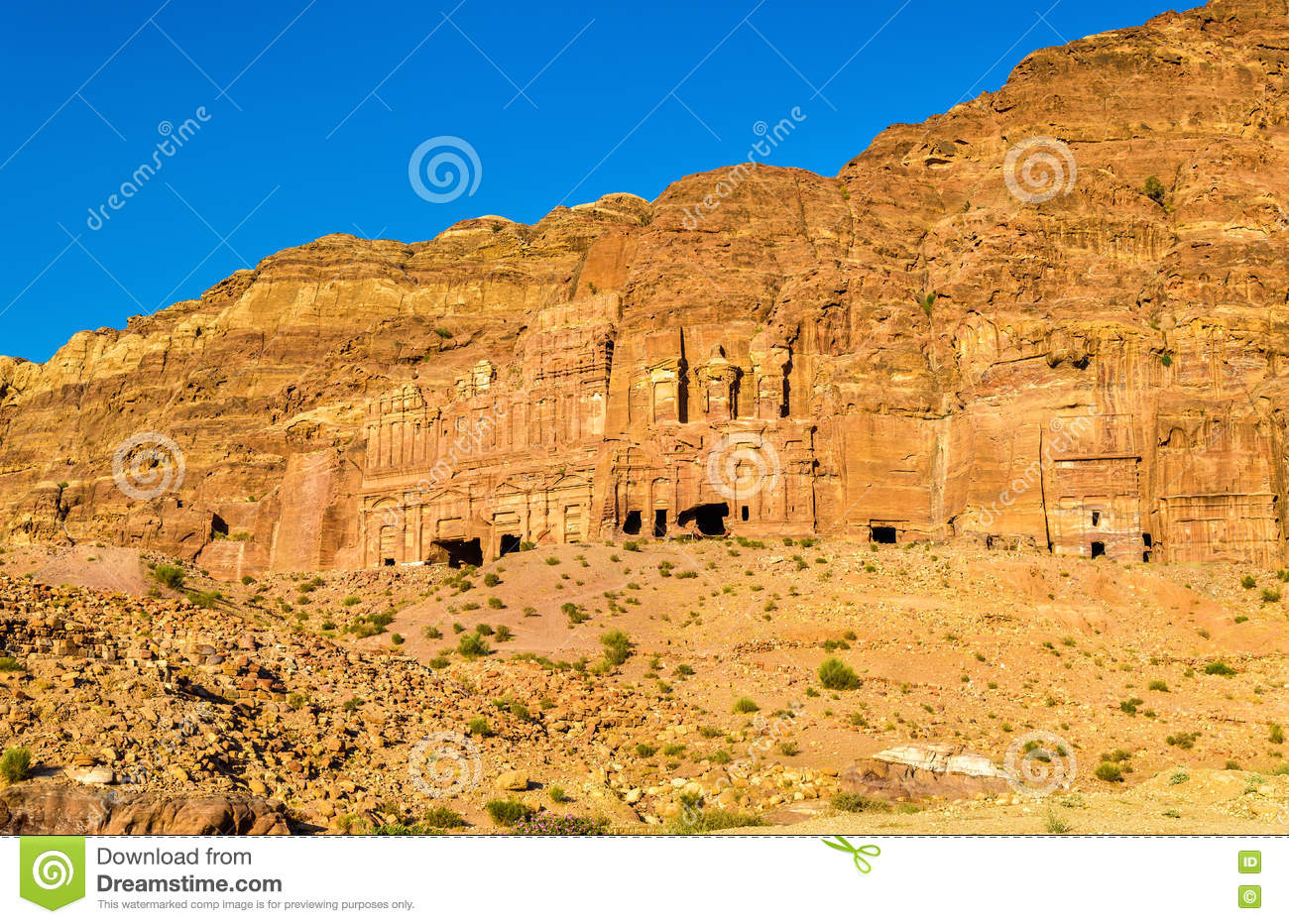 View Of The Royal Tombs At Petra bdc370be9