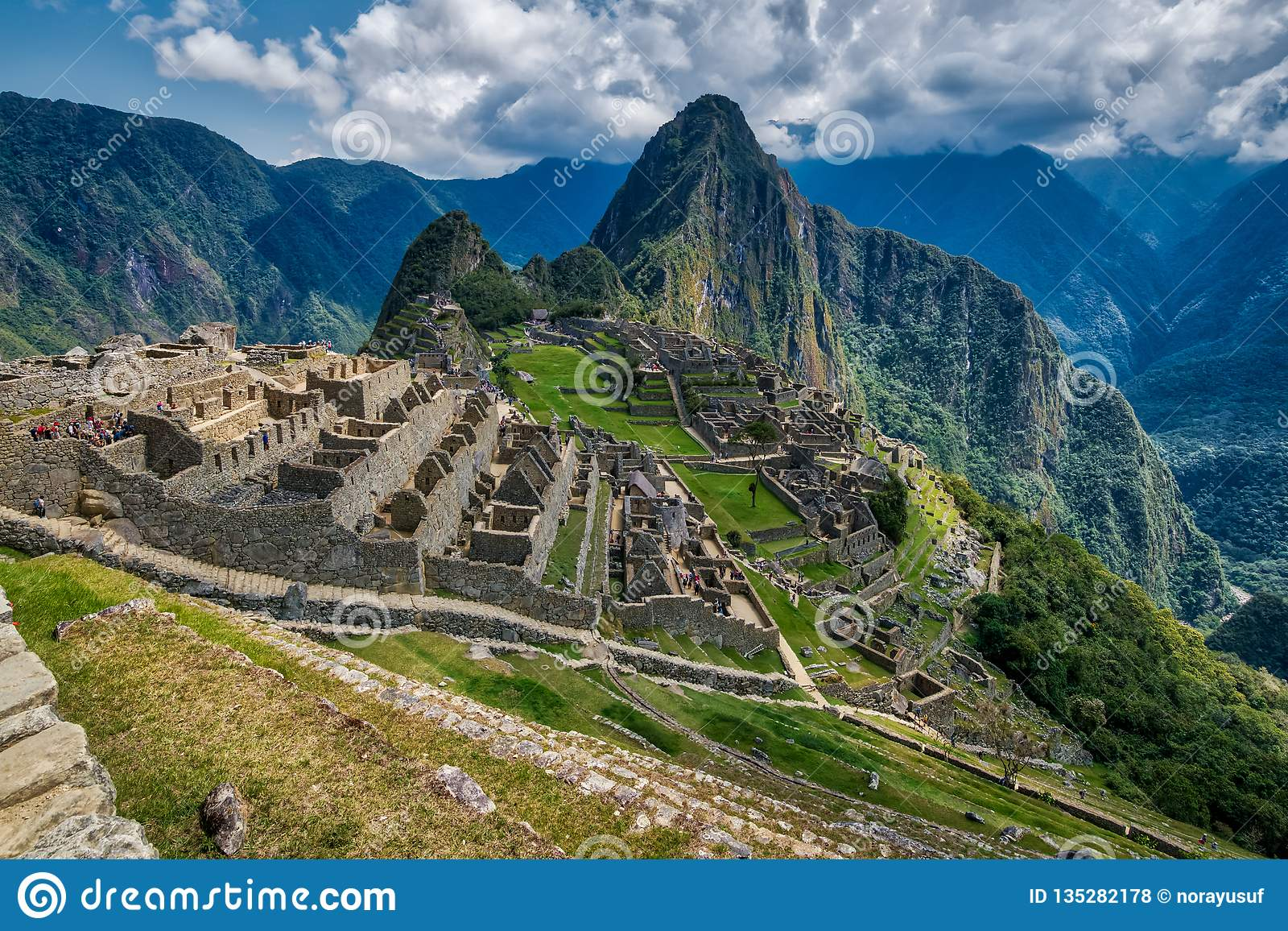 A view of the ruins of Machu Picchu