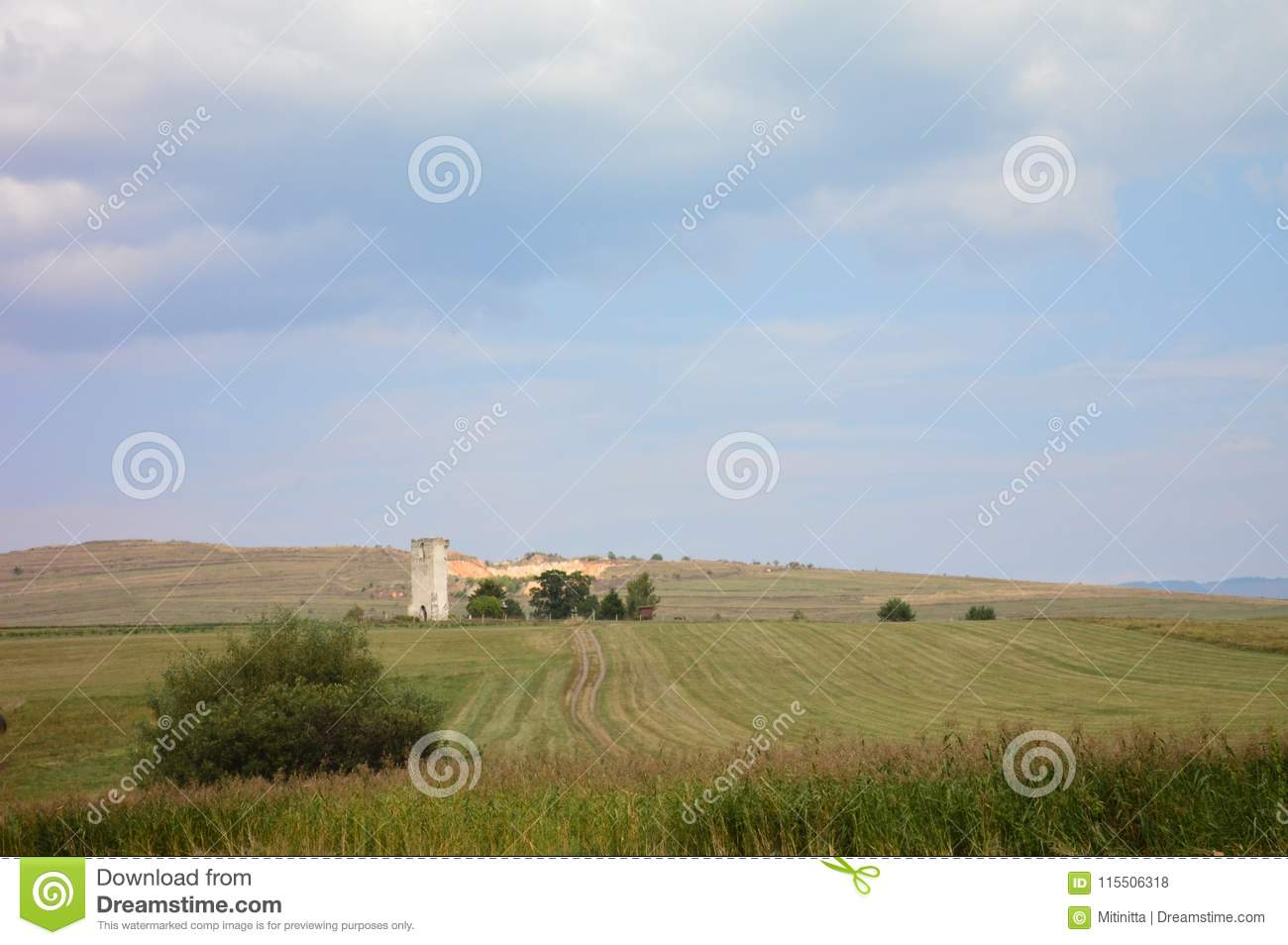 Ruins of a tower in Harghita County, Transylvania