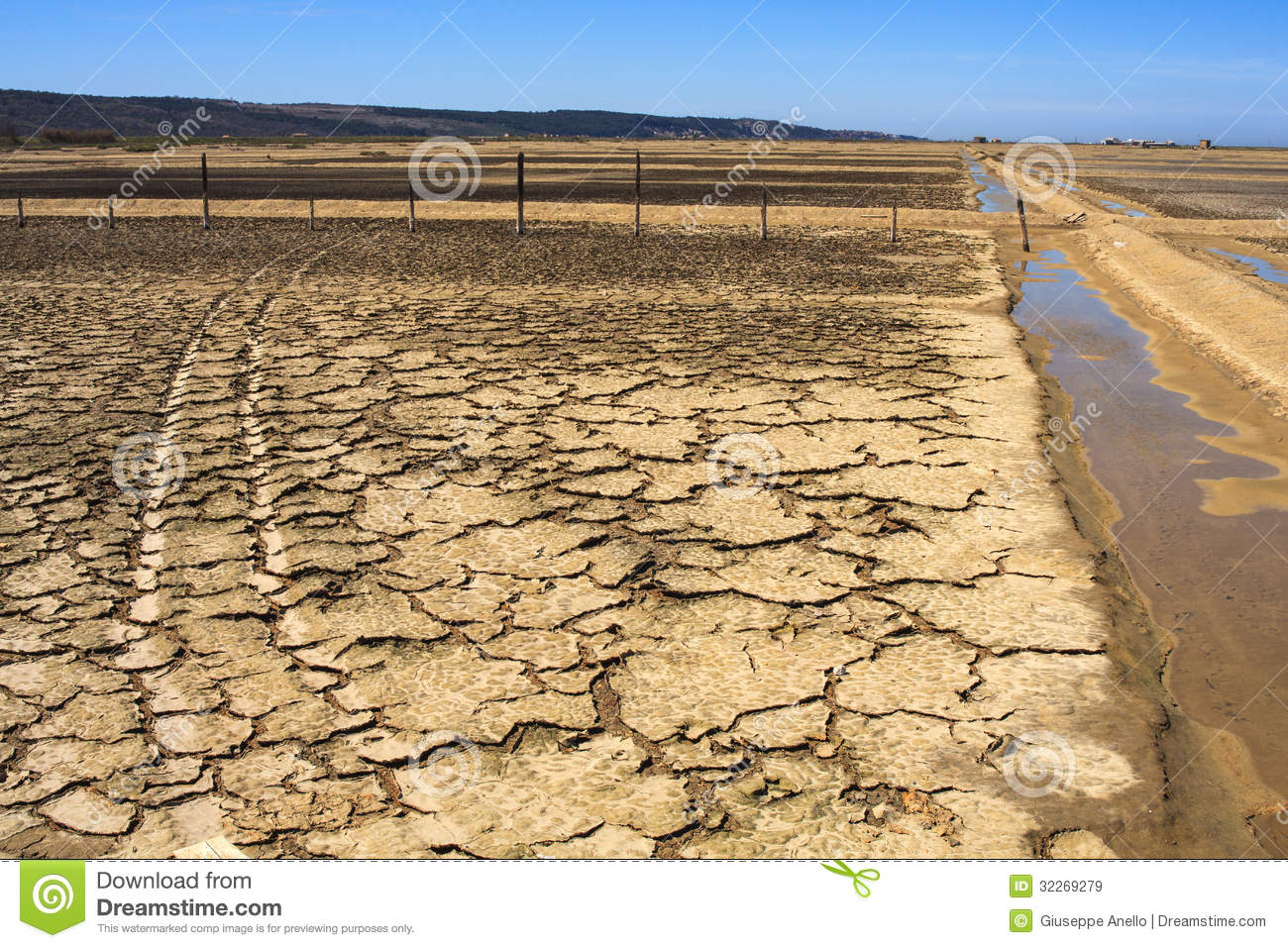 View of salt evaporation ponds in secovlje royalty free for Design of evaporation pond
