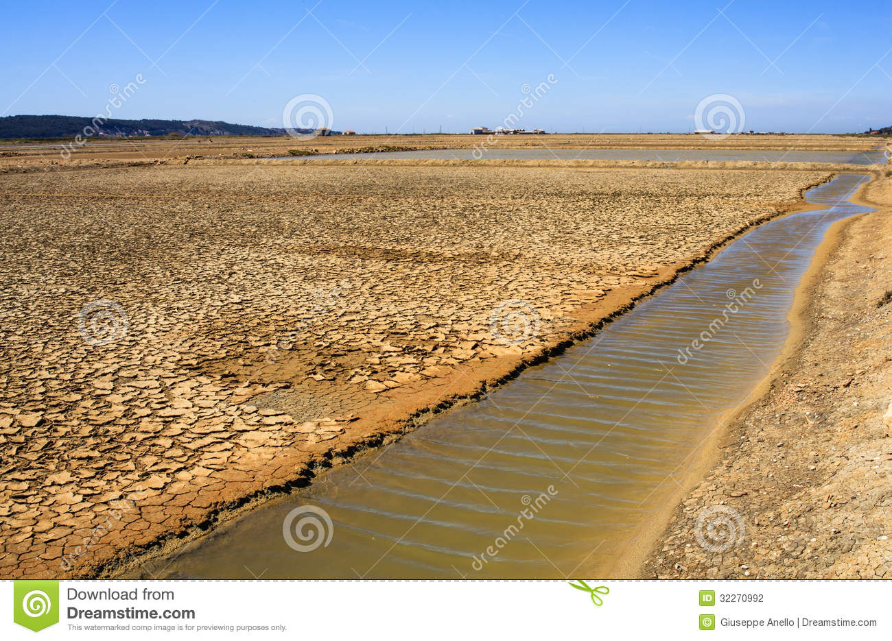 View of salt evaporation ponds in secovlje stock for Design of evaporation pond