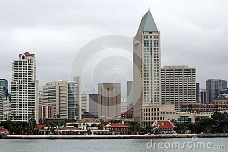 A view of the San Diego skyline