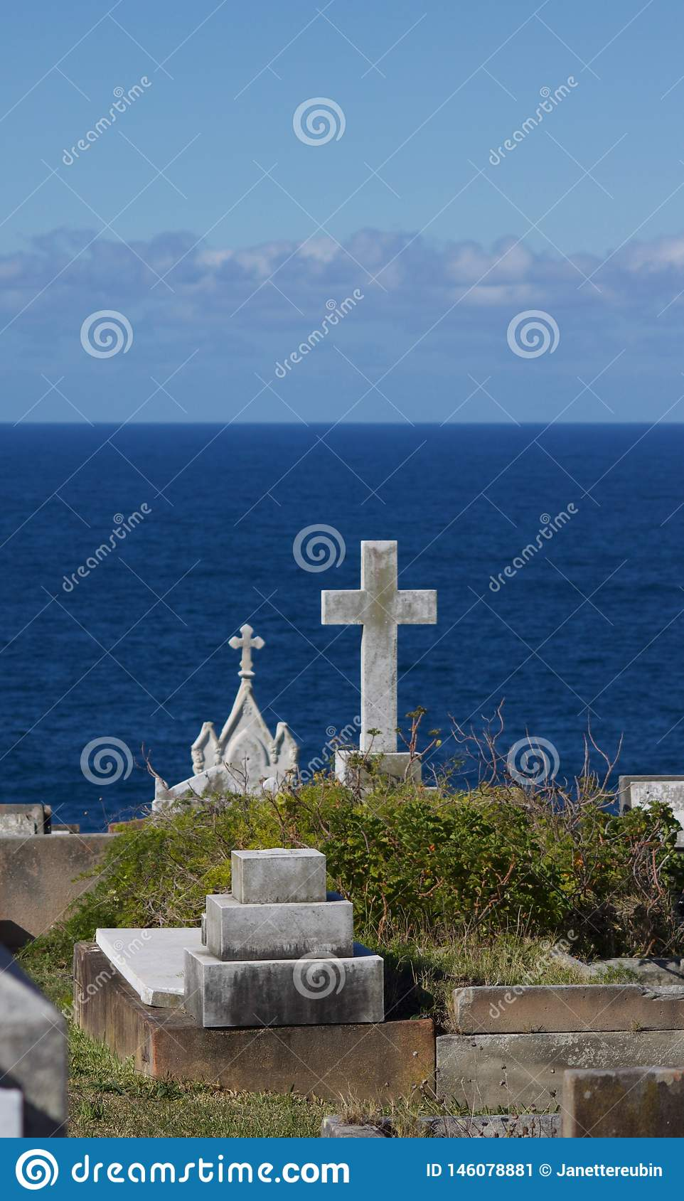 View Of Sea From Waverley Cemetery In New South Wales Australia