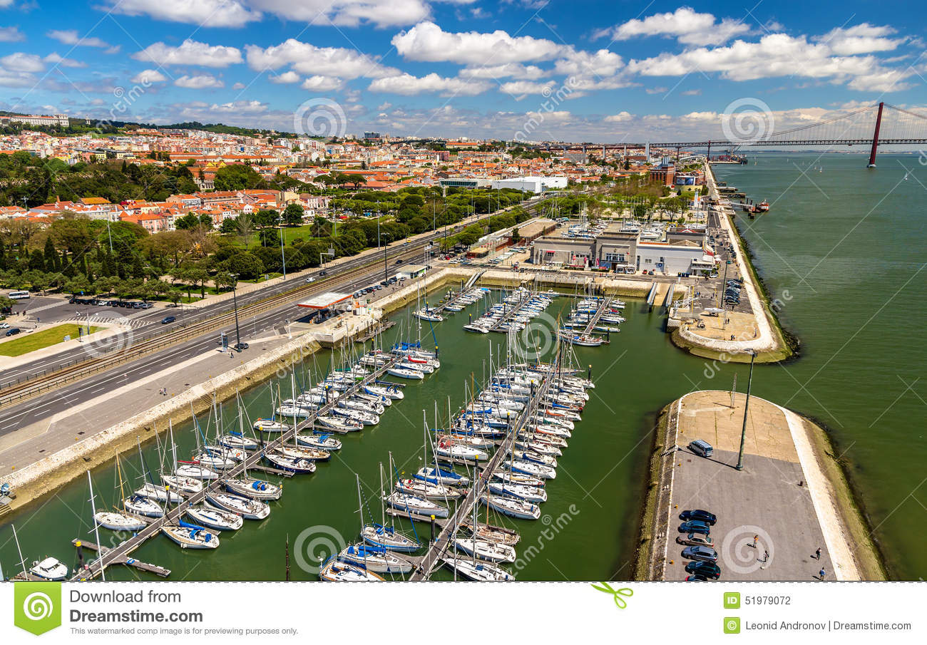View of the seafront in Lisbon