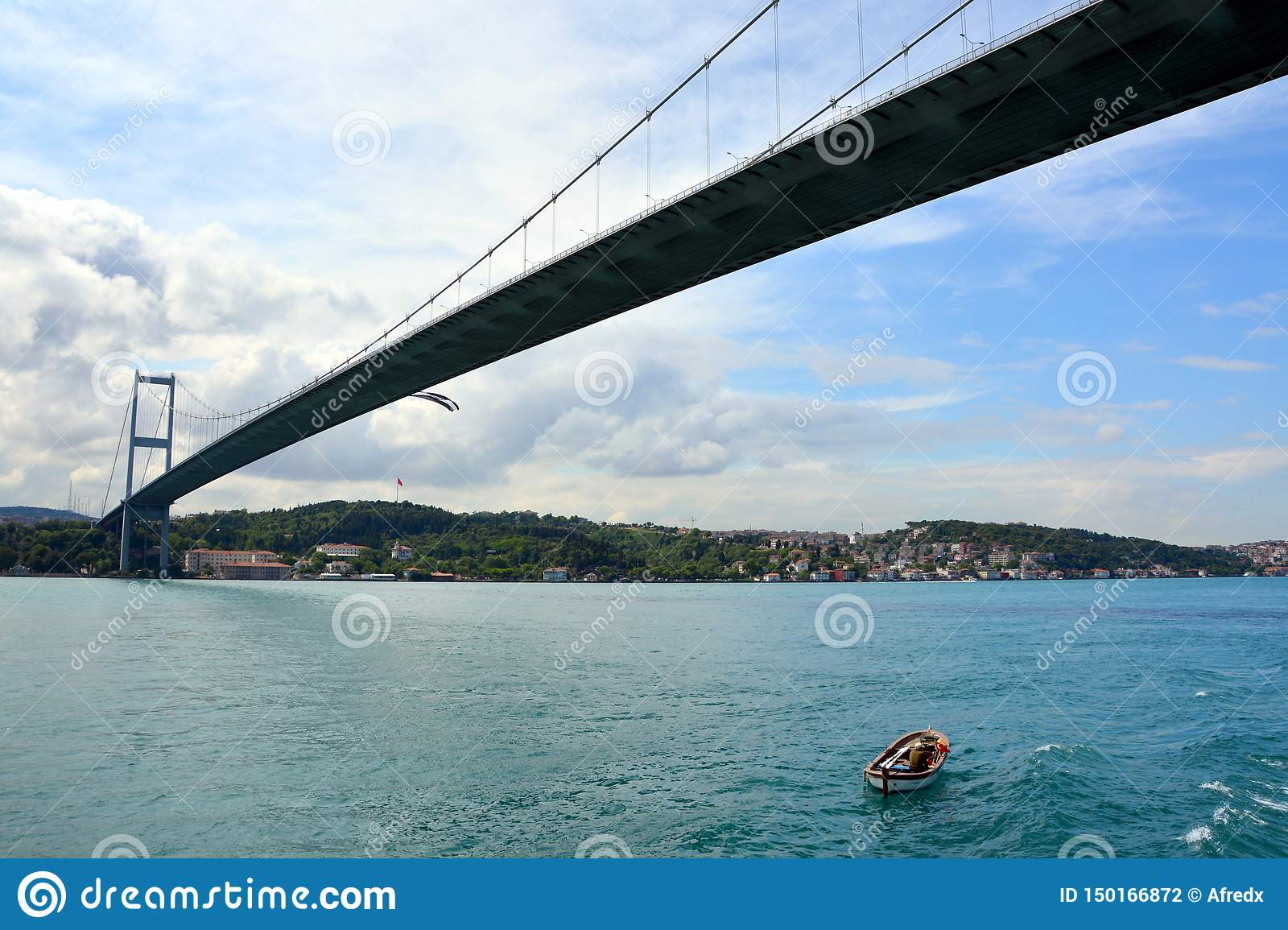 View and sight of Bosphorus, Istanbul, Turkey