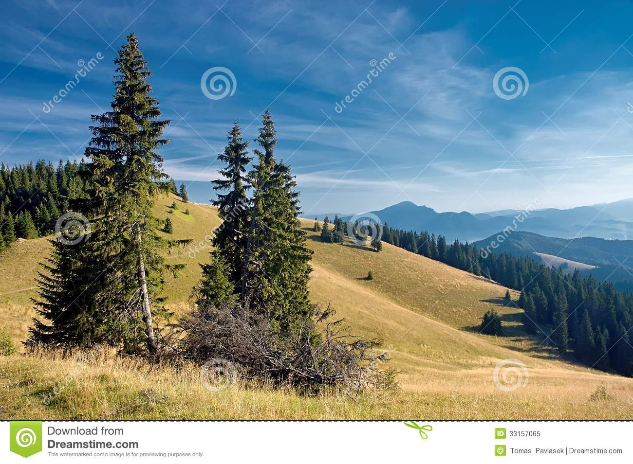 View Of The Slovak Mountains Royalty Free Stock Photo