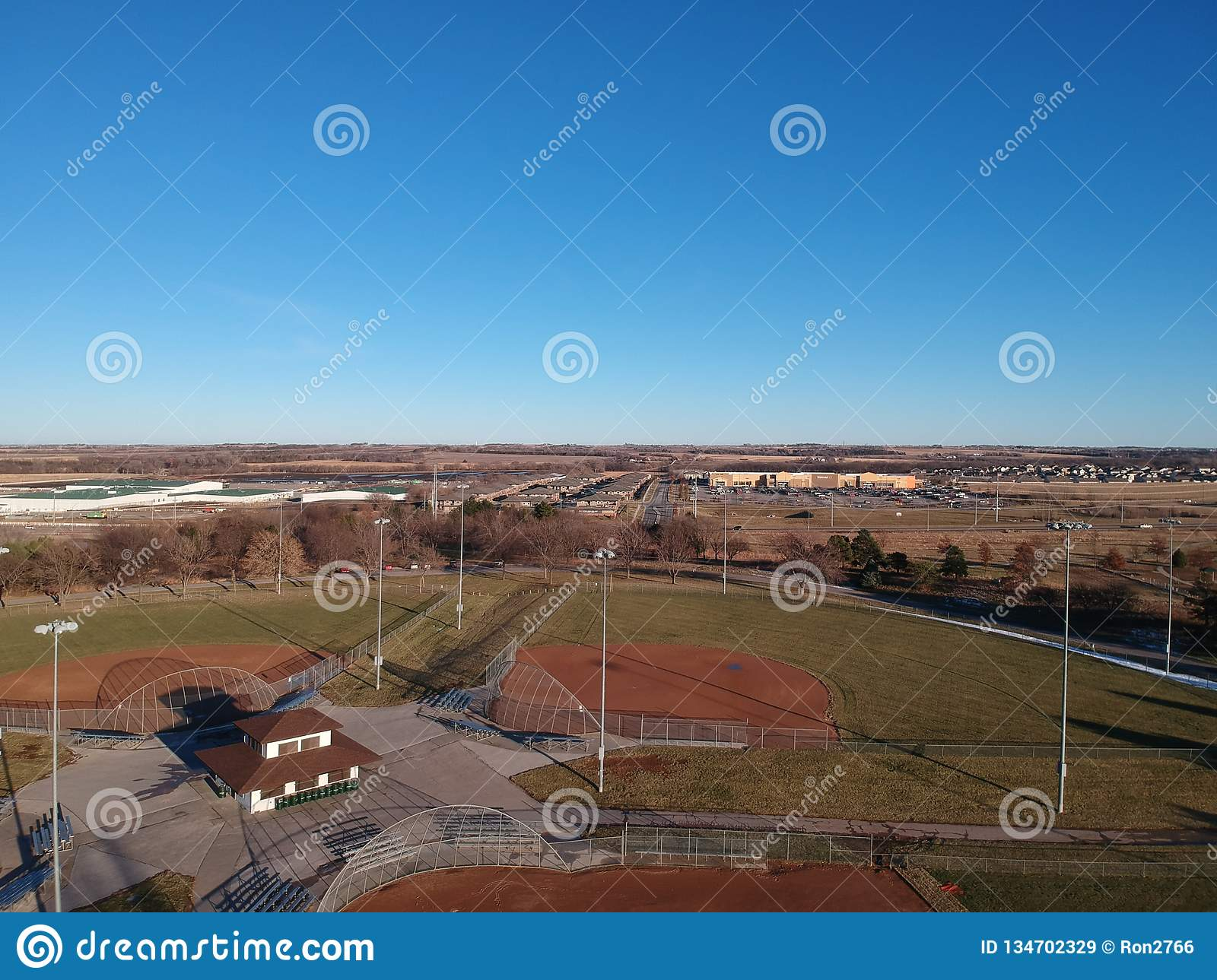 View Of Softball From Above Stock Image - Image of season, highview