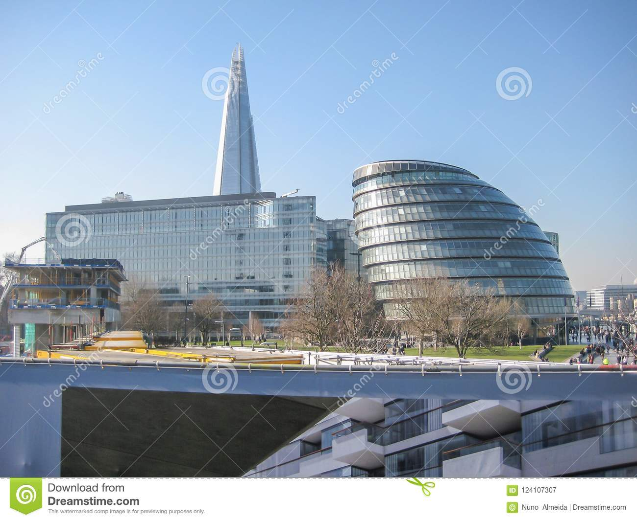 View Of The South Bank Of The River Thames In London Modern