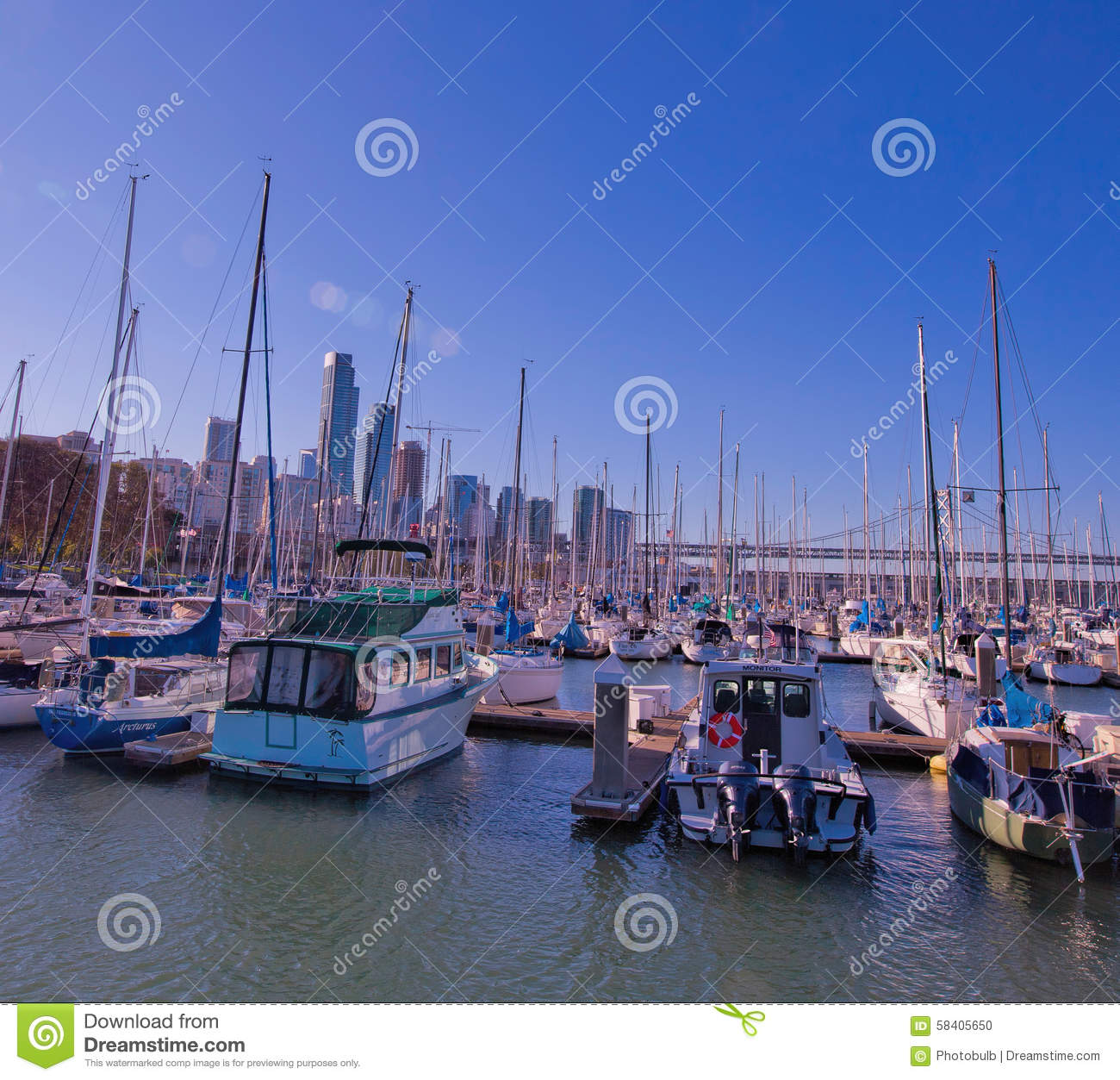 View From South Beach Harbor, San Francisco Editorial Image - Image