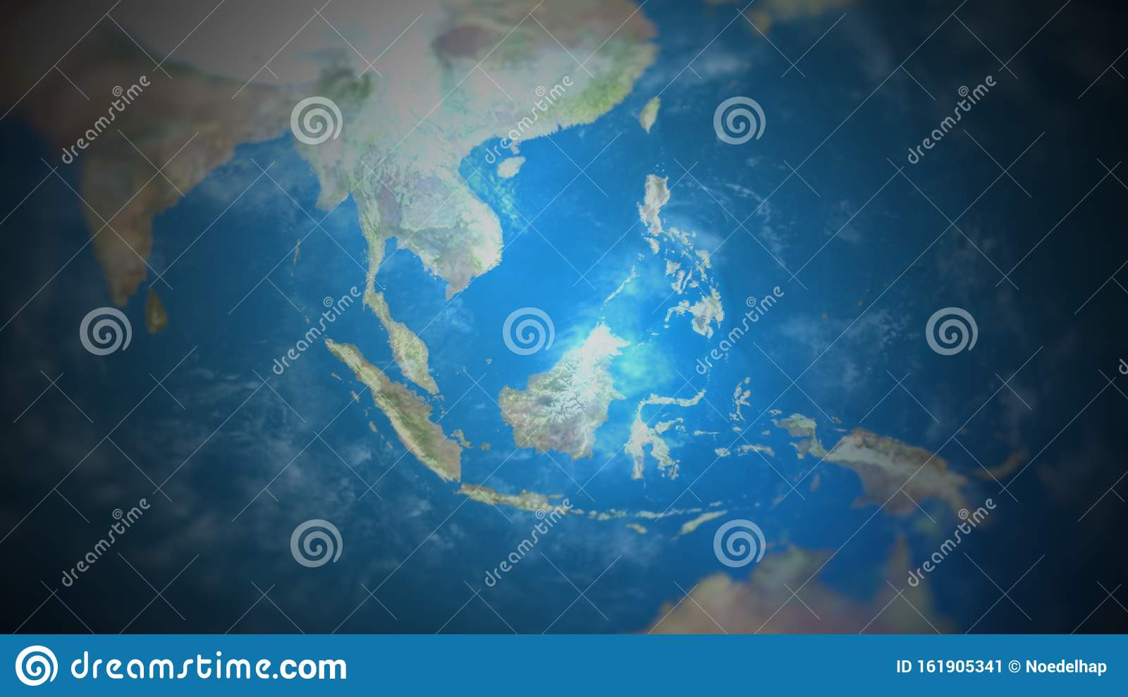 Picture of: View Of South East Asia On A World Map Stock Illustration Illustration Of World Vignette 161905341
