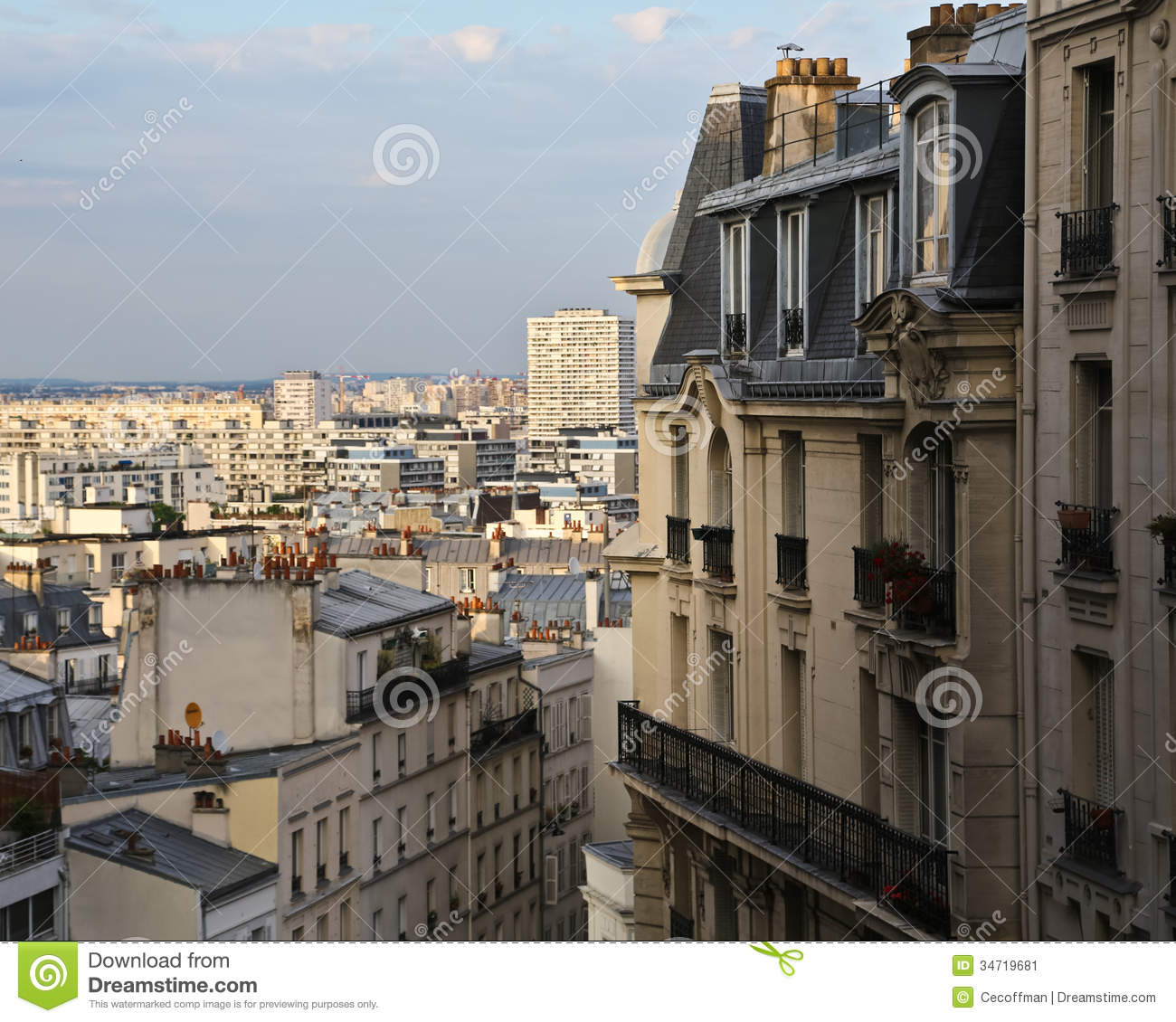 View Of St. Denis Stock Image