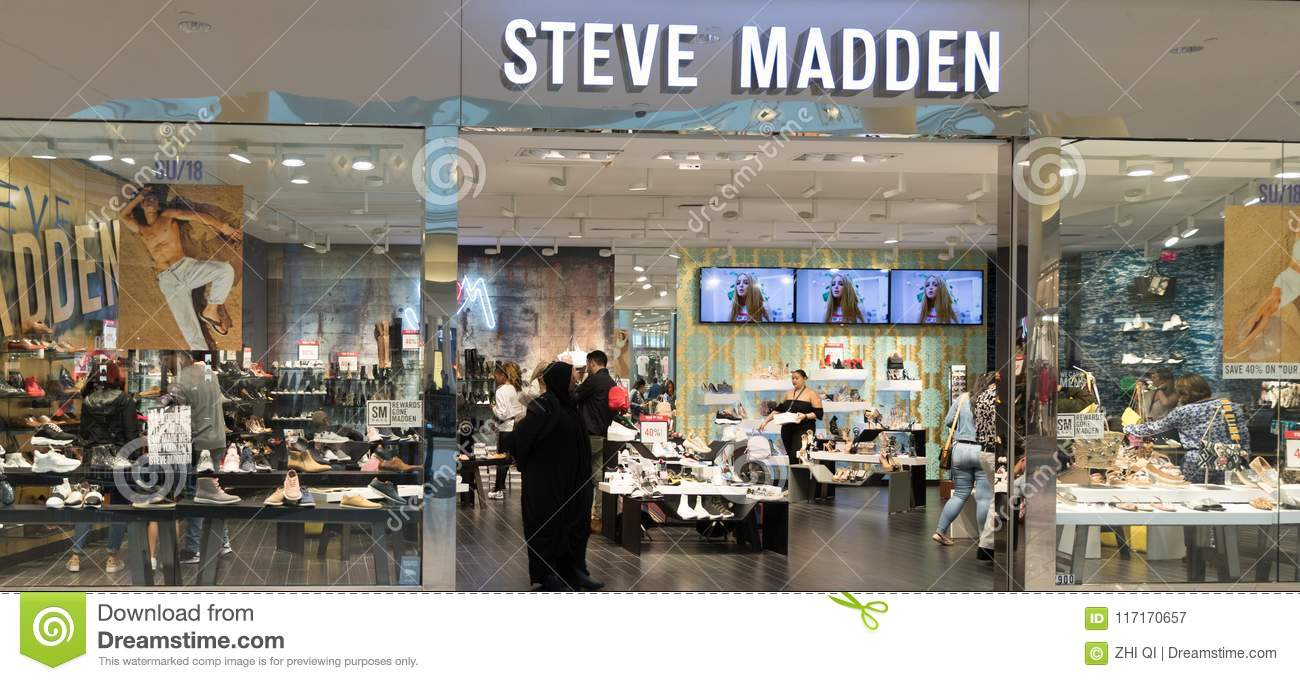 56aa8684262 View At Steve Madden Store Front Editorial Photography - Image of ...