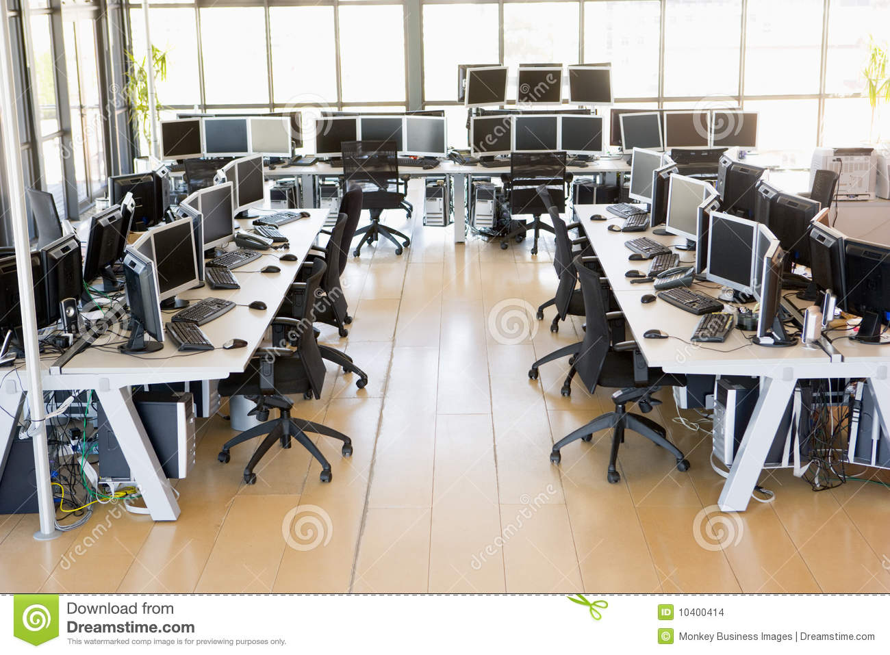 View of stock trading office stock photo image 10400414 for Office design productivity