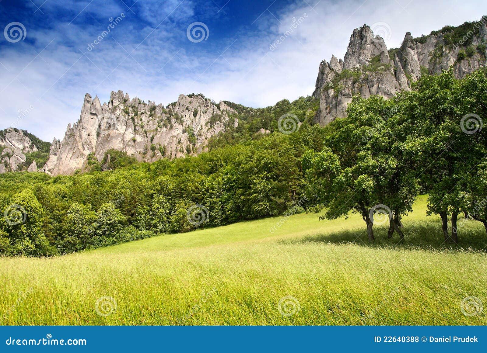 View of sulov rockies