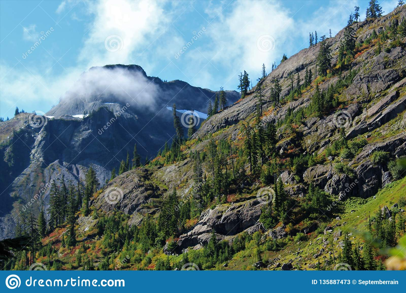 A View Of Table Mountain From Bagley Lakes Trail In The