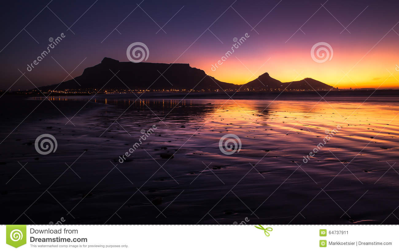 Cape Town At Night South Africa Stock Photography 2847
