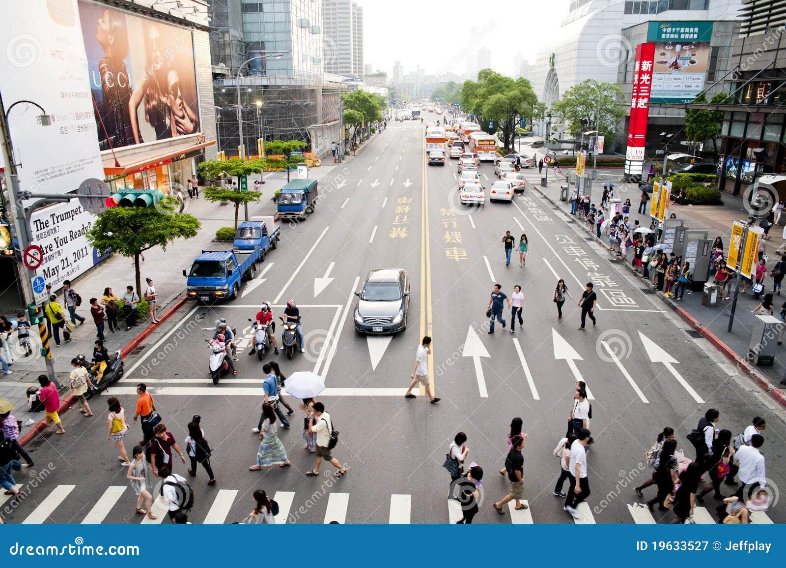 The view of taipei street view