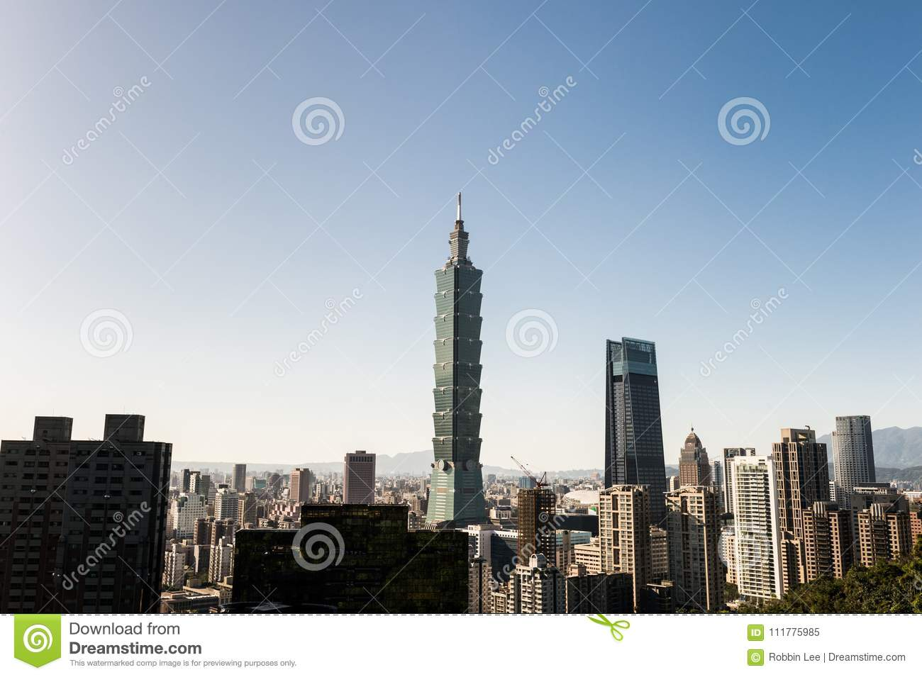 View of Taipei 101 world trade center building