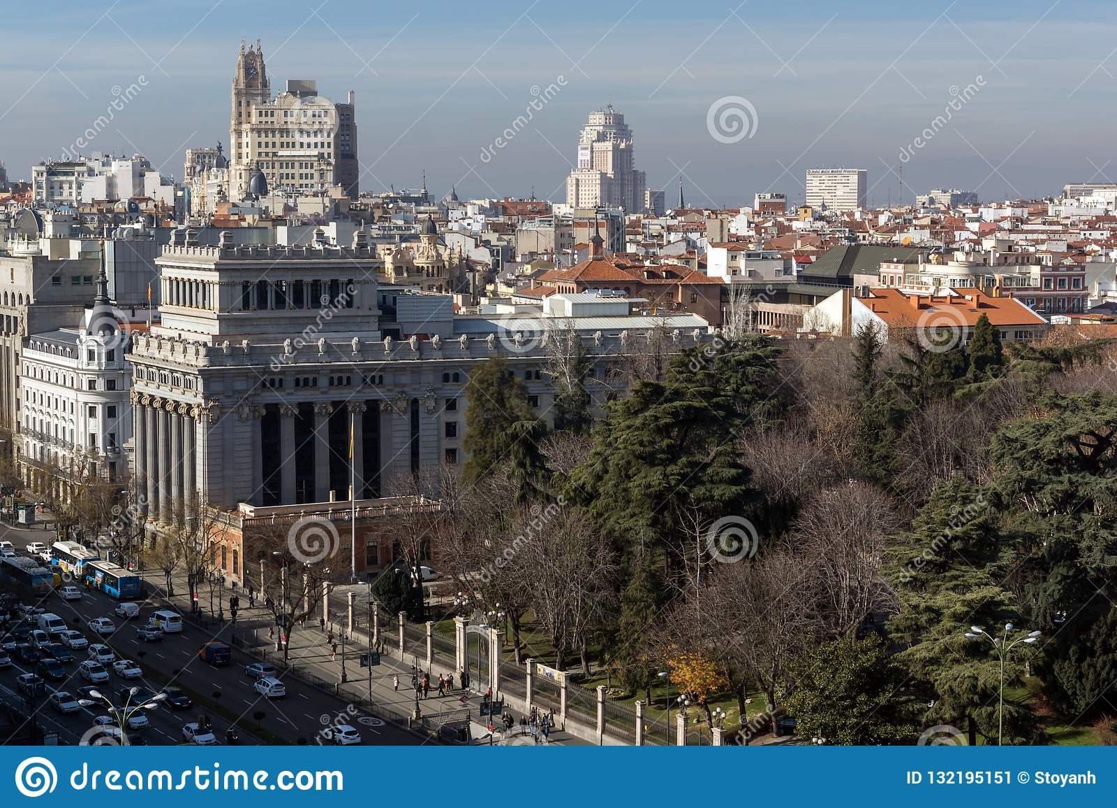 View From The Terrace Of Cybele Palace Palacio De Cibeles