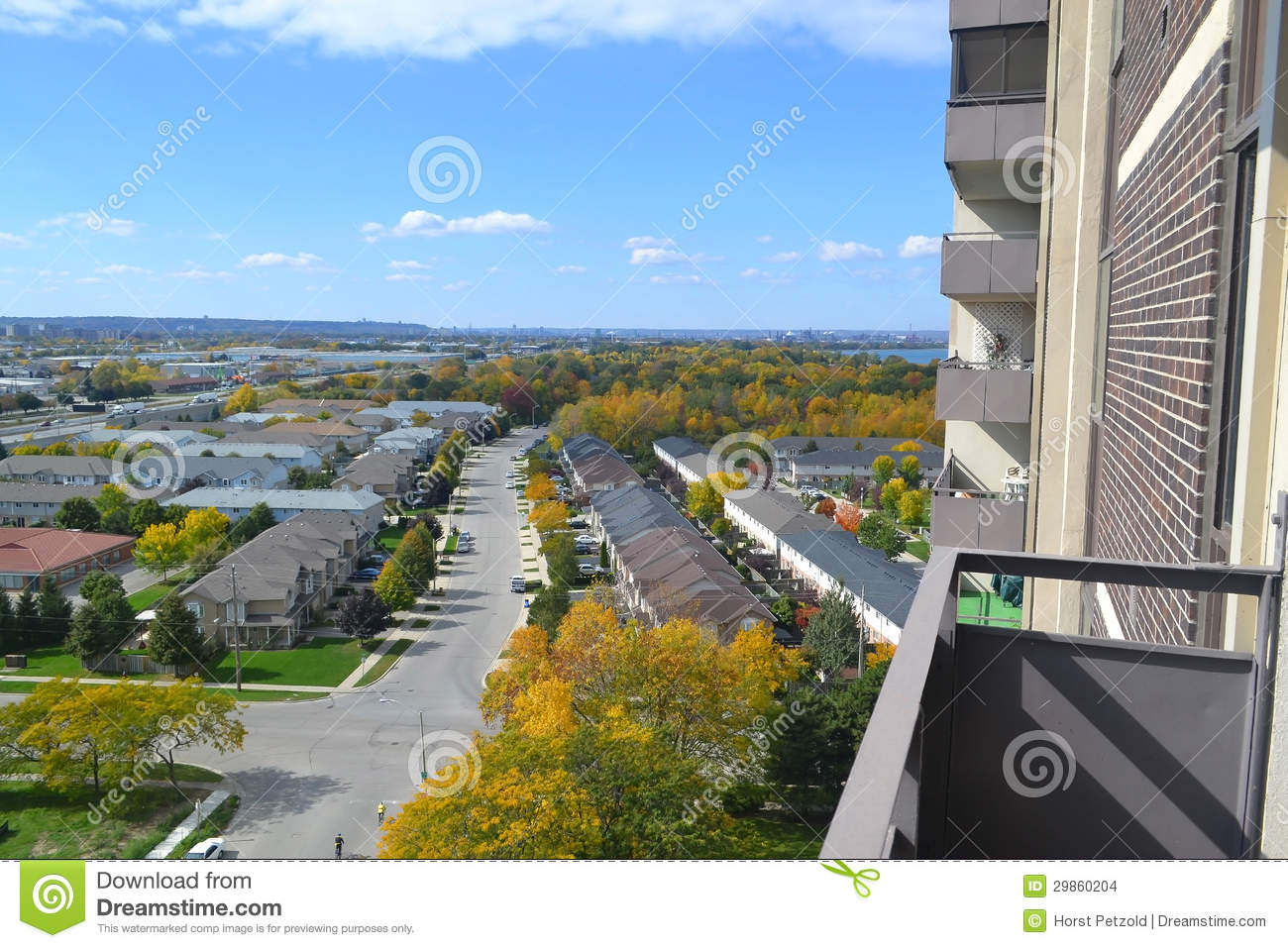 View From High Rise Building  Stock Images