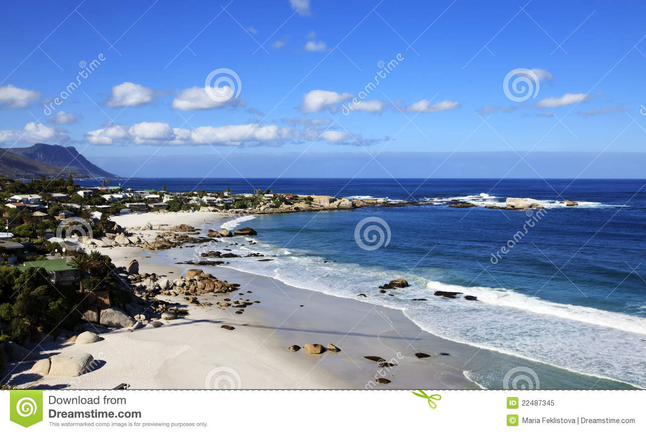 View To The Clifton Beach In Cape Town Royalty Free Stock ...