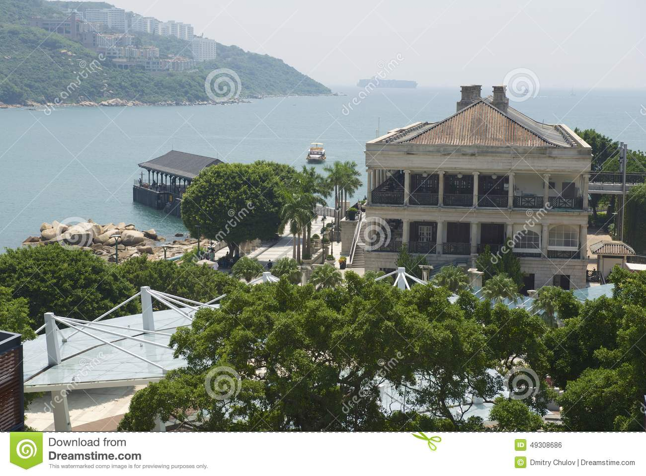 View To The Murray House And Stanley Harbor In Hong Kong China Editorial Photo Image 49308686