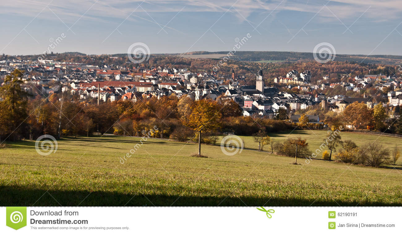 Plauen City During Nice Autumn Day Royalty-Free Stock ...