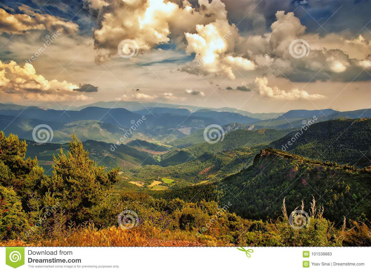 Landscape on the Pyrenees Spain