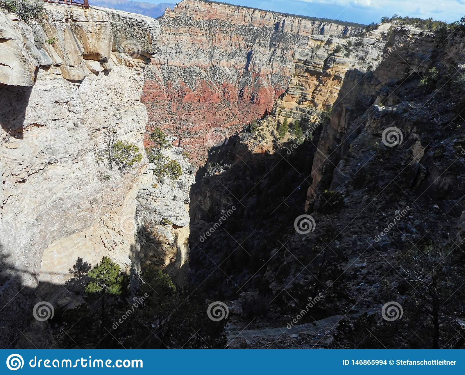 View To The Rocks In The Grand Canyon Stock Photo Image Of
