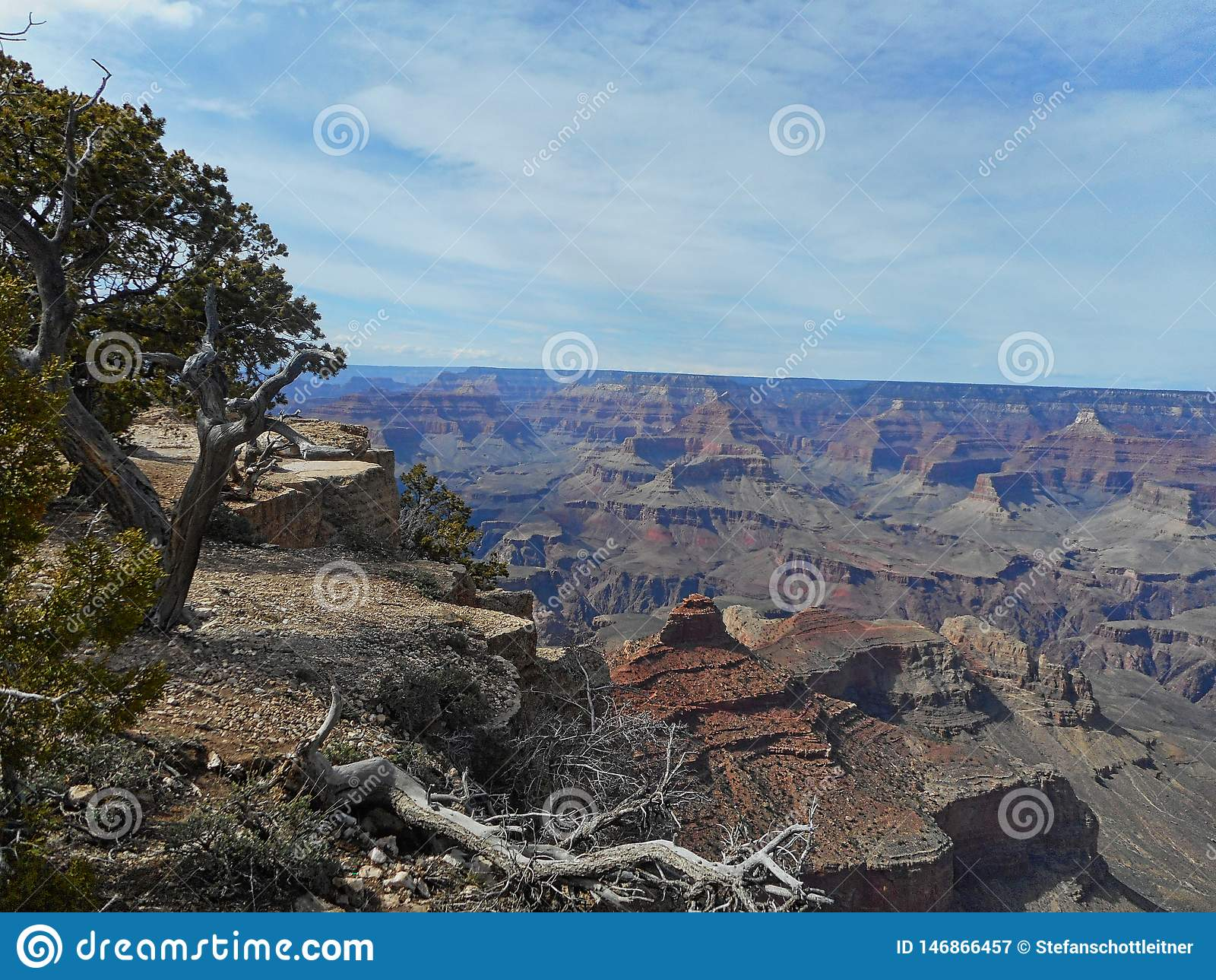 View To The Rocks In The Grand Canyon Stock Image Image Of