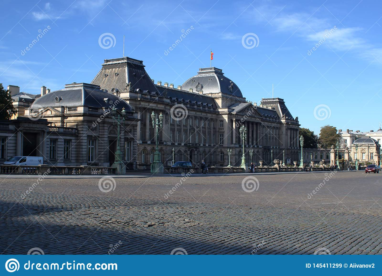 View to The Royal Palace of Brussels