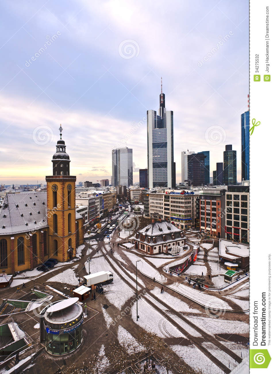 View To Skyline Of Frankfurt Editorial Photography Image