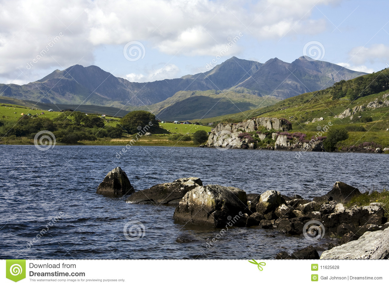 View to Snowdon and the Horseshoe