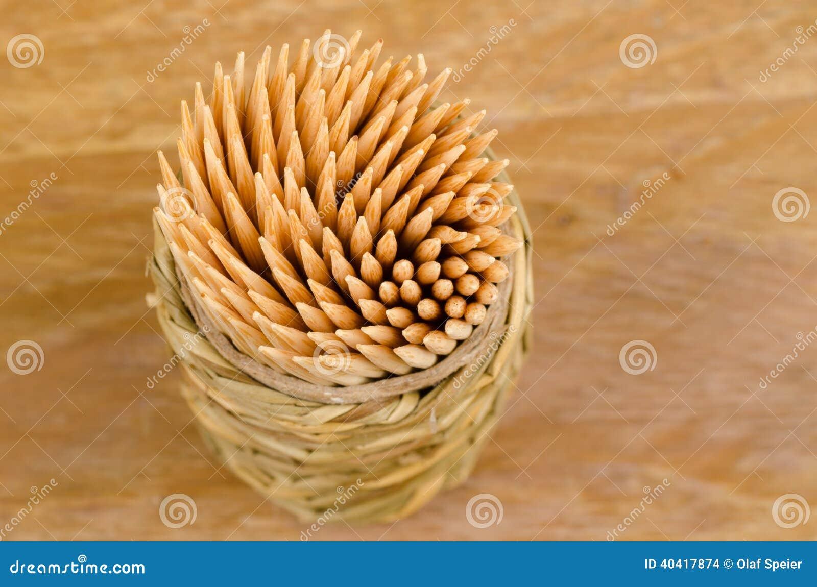 View of toothpicks
