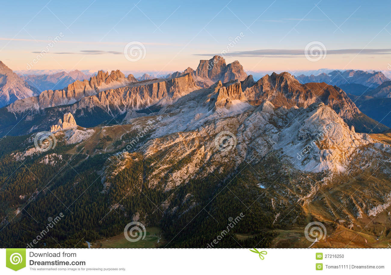 View from the top of lagazuoi dolomites italy stock for Best view of dolomites