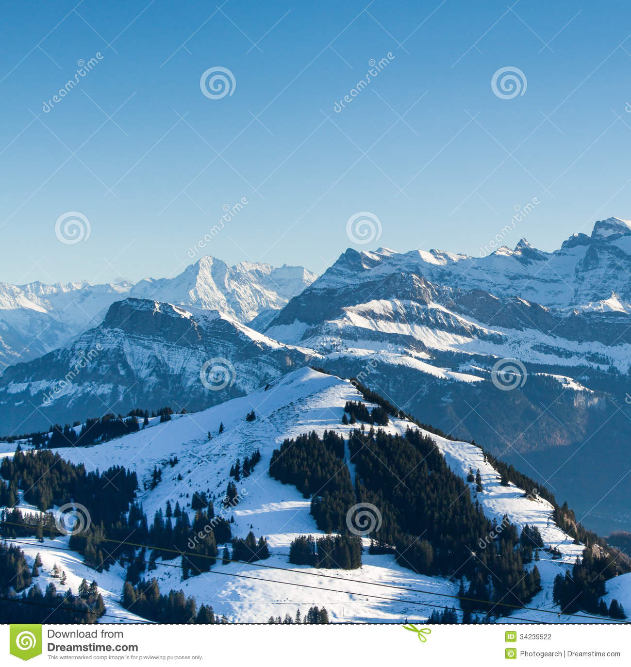view from the top of mt rigi switzerland stock photo image of