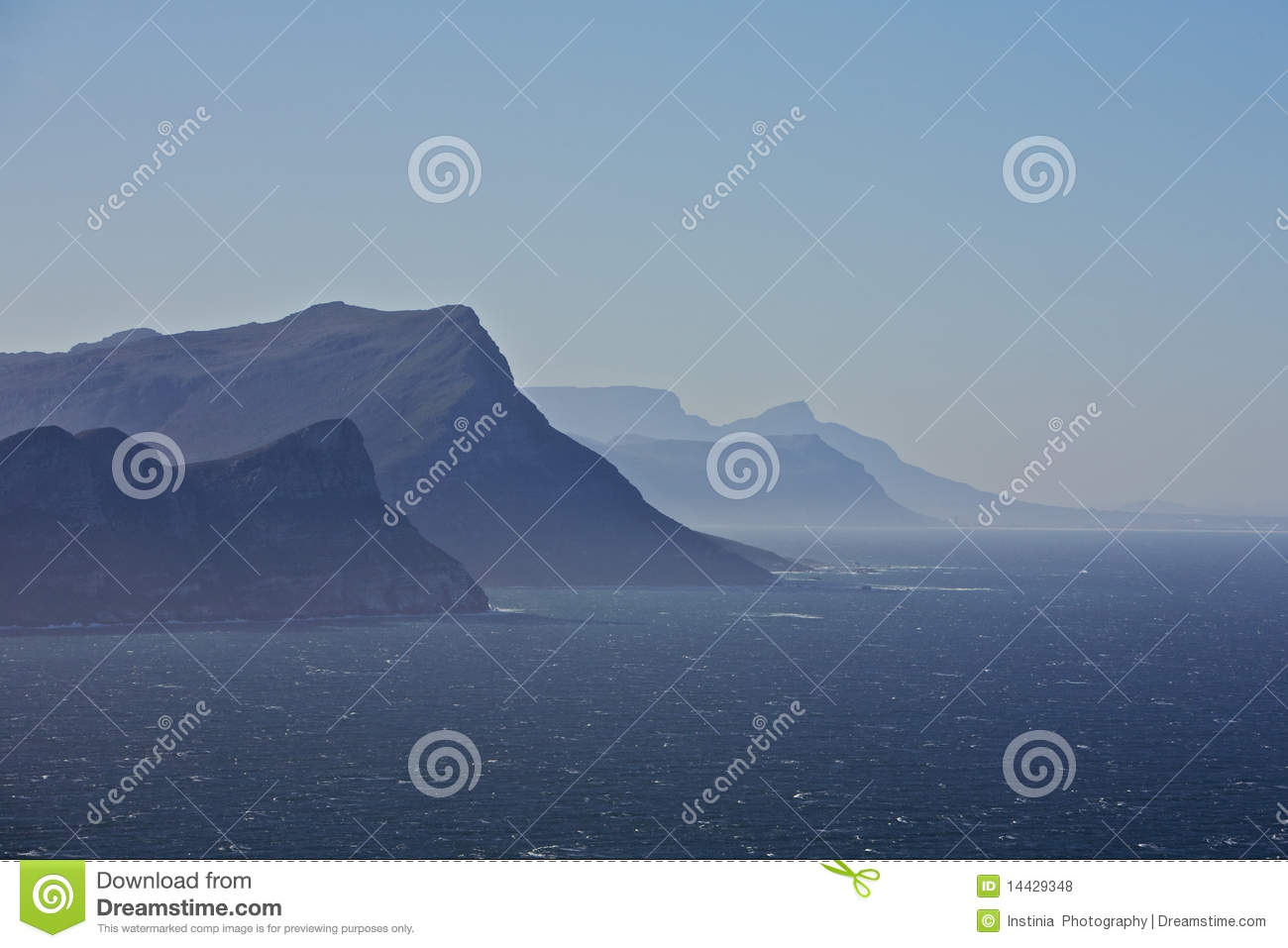 View towards Cape Point, South Africa