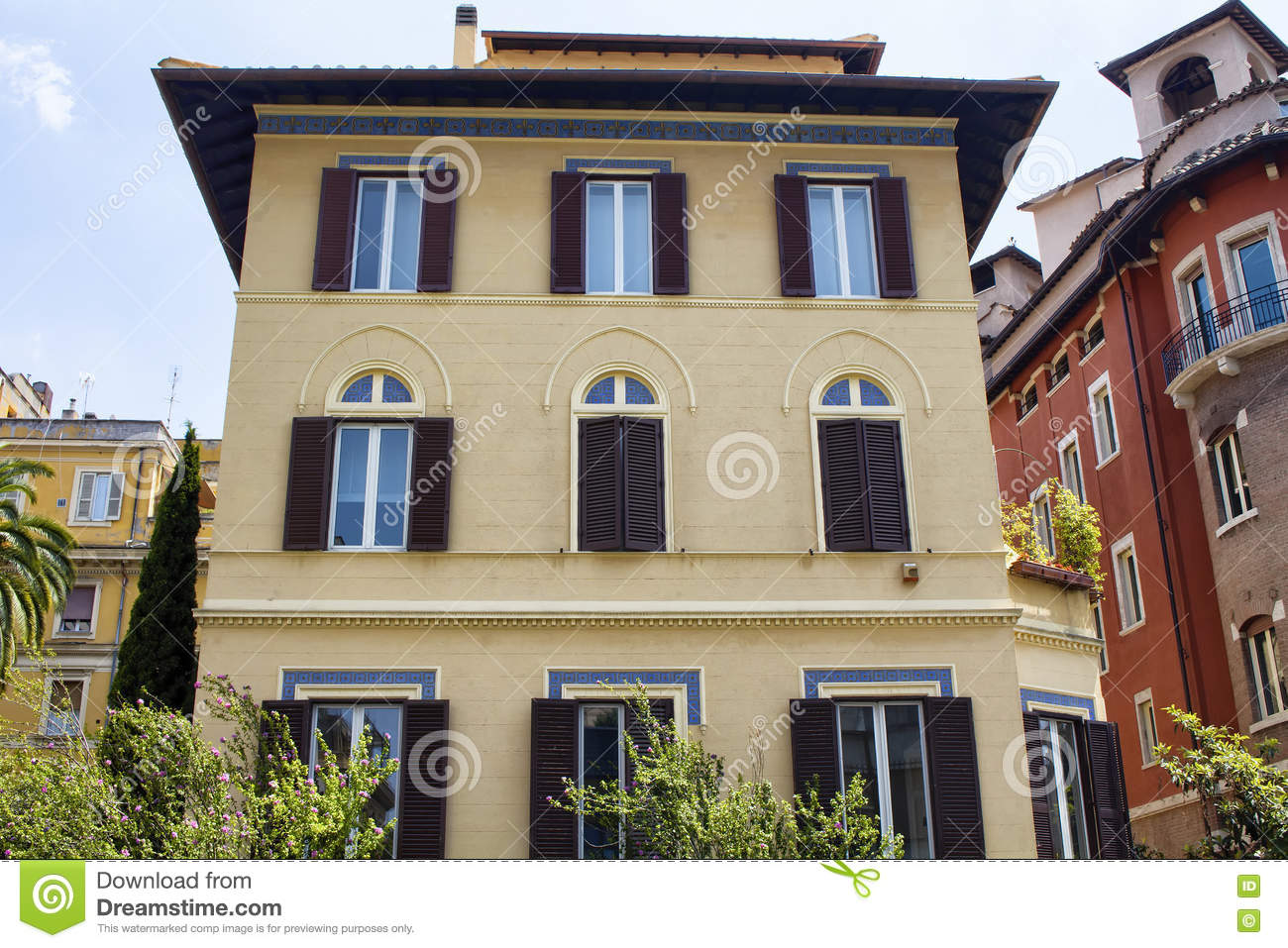 View of a traditional italian house stock photo image for Classic italian house