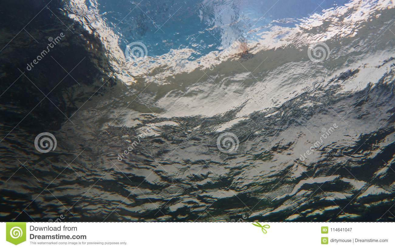 Download View from underwater stock image. Image of abstract - 114641047