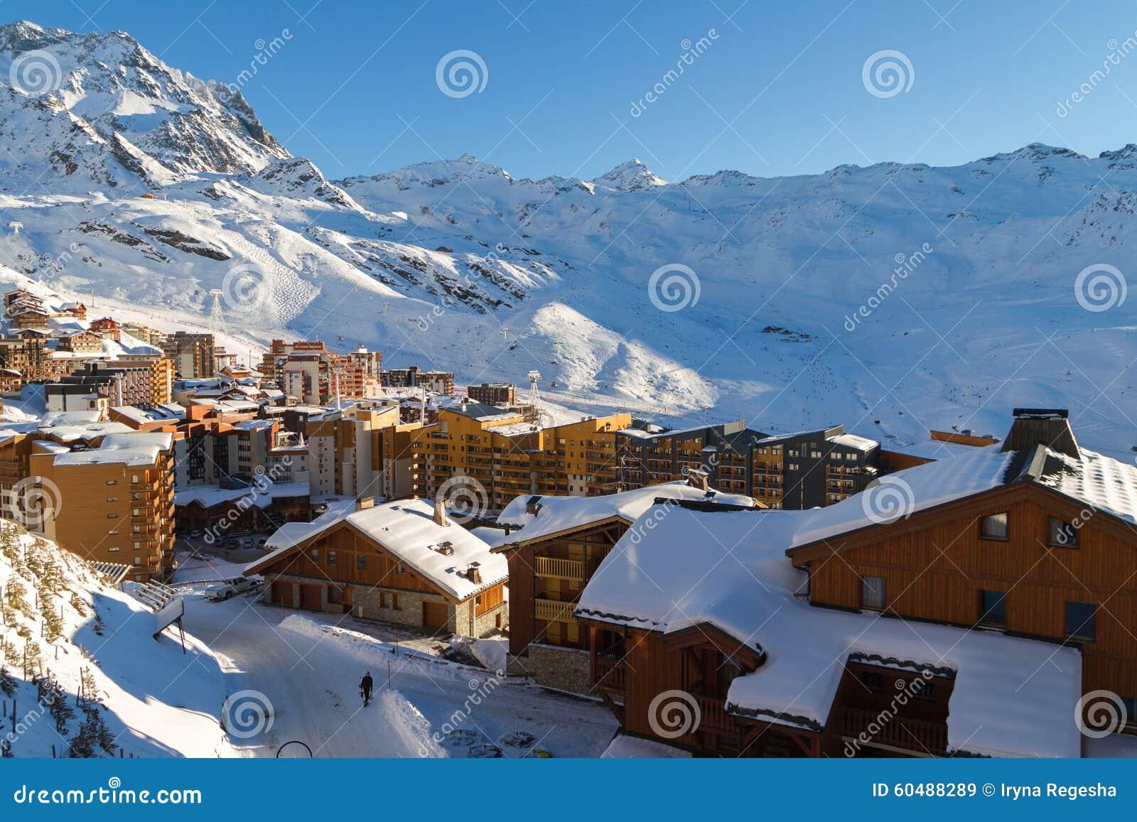 Meribel Ski Resort Three Valleys French Alps France View Of