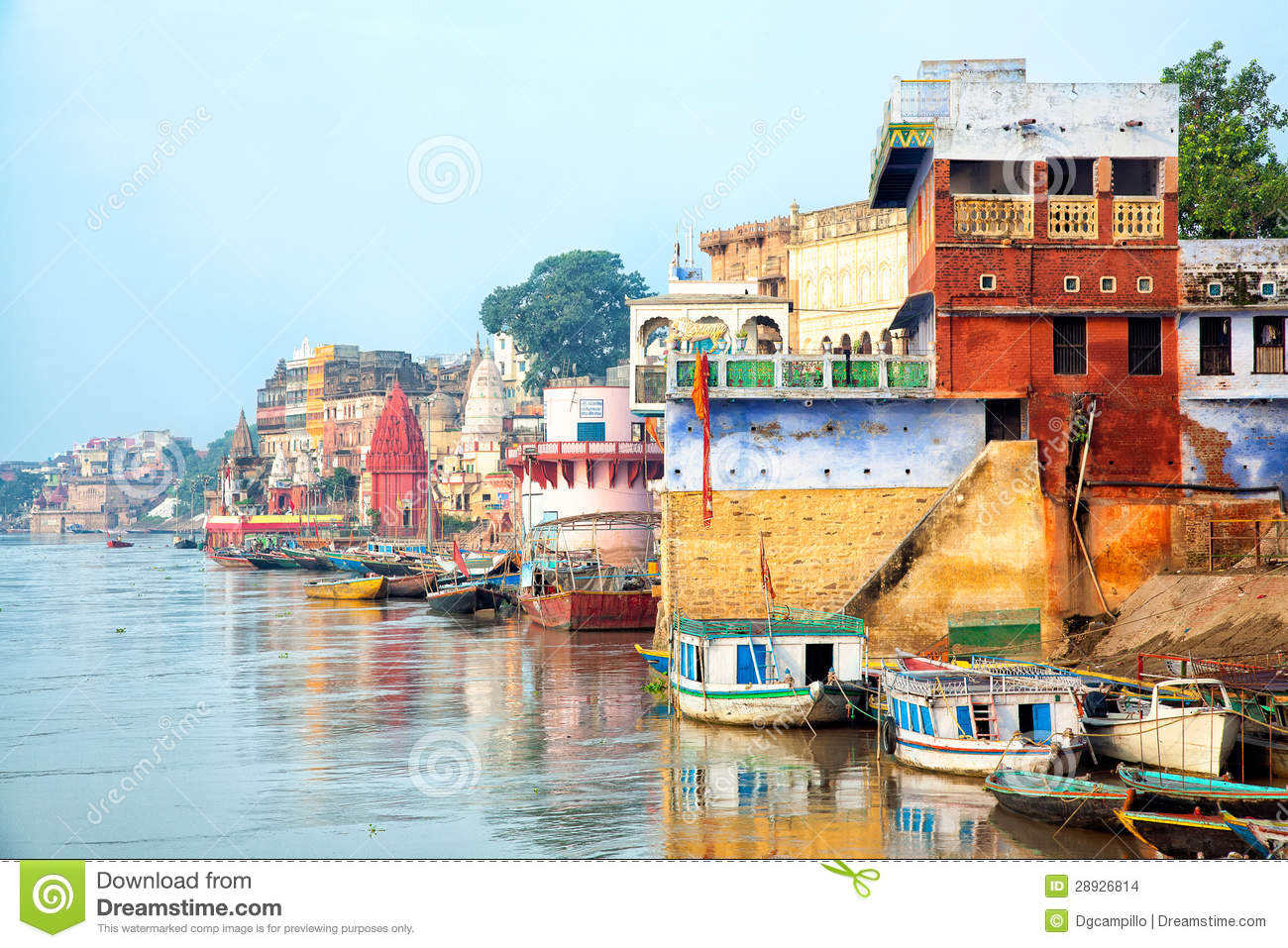 View of Varanesi and Ganges river