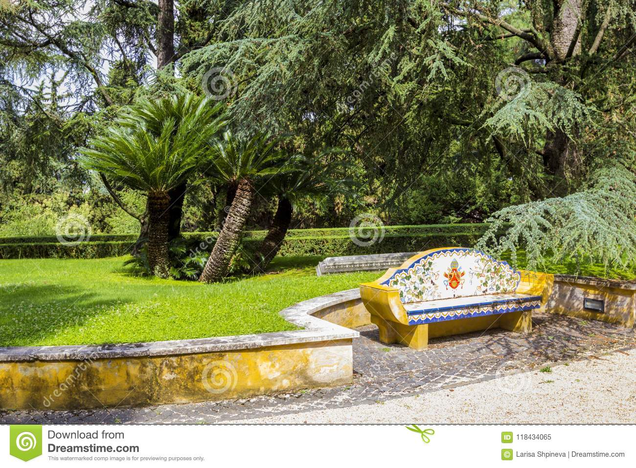 Sensational View At Vatican Gardens With Beautiful Green Lawns And Trees Ibusinesslaw Wood Chair Design Ideas Ibusinesslaworg