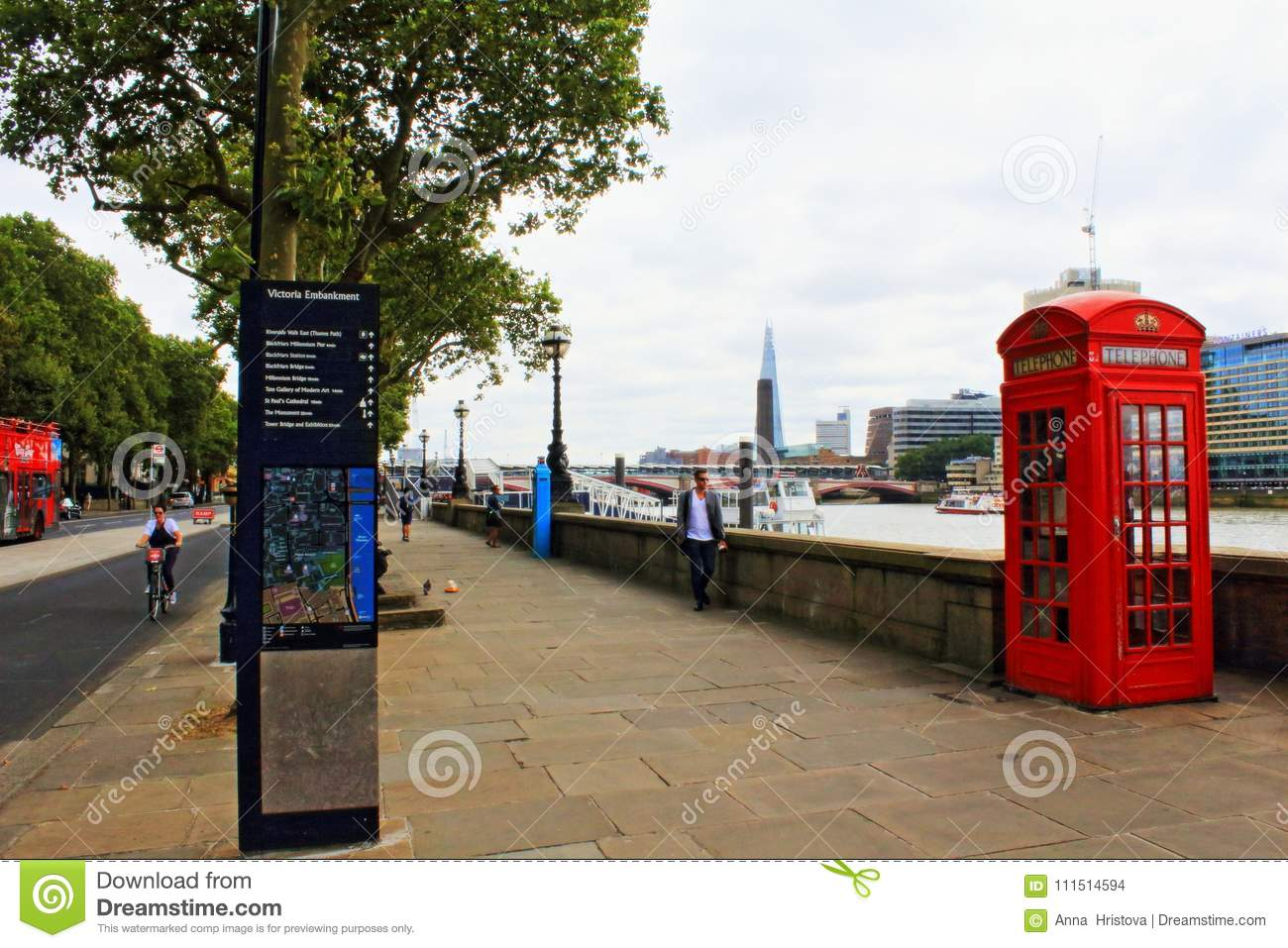 Victoria Embankment London England United Kingdom Editorial Stock