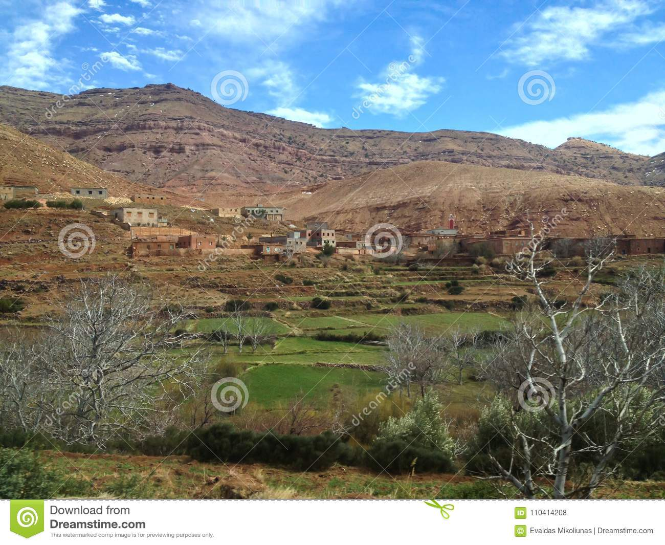 Bedouin villages in atlas mountains in morocco