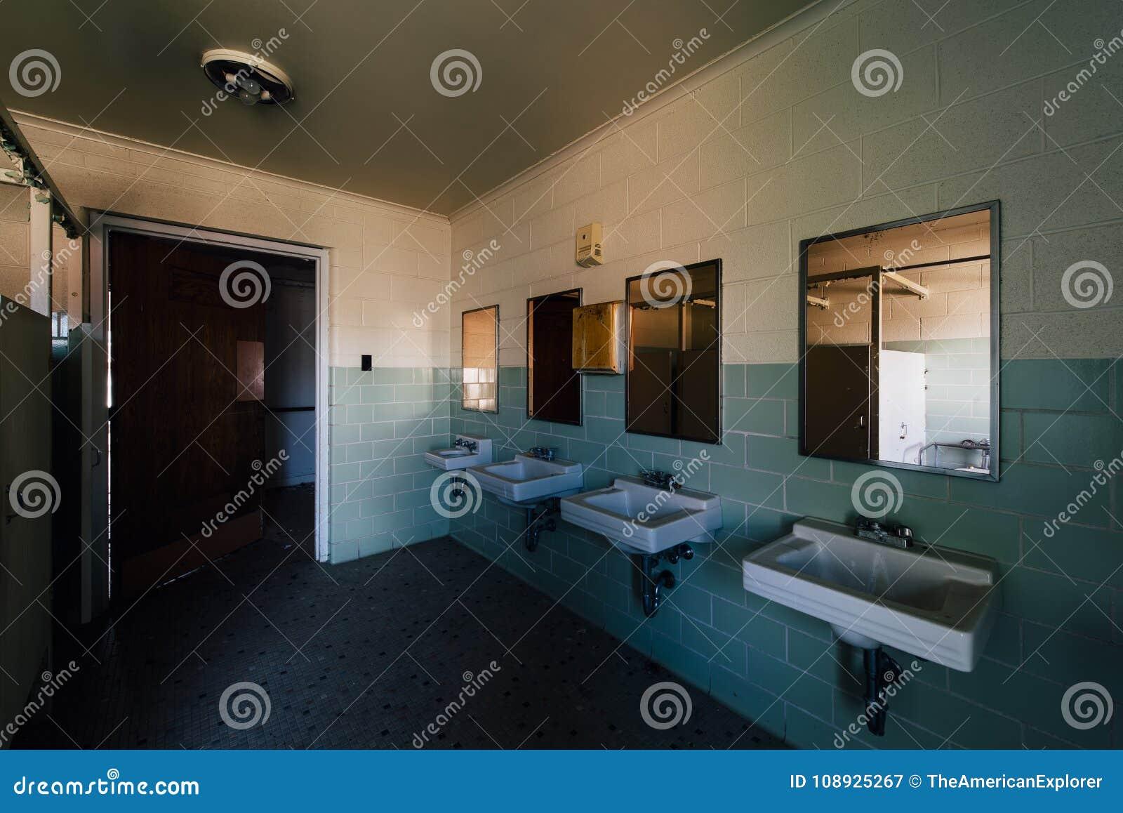 Vintage Bathroom with Sinks & Mirrors - Abandoned Sweet Springs - West Virginia