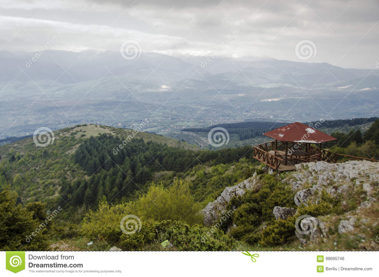 View from Vodno mountain